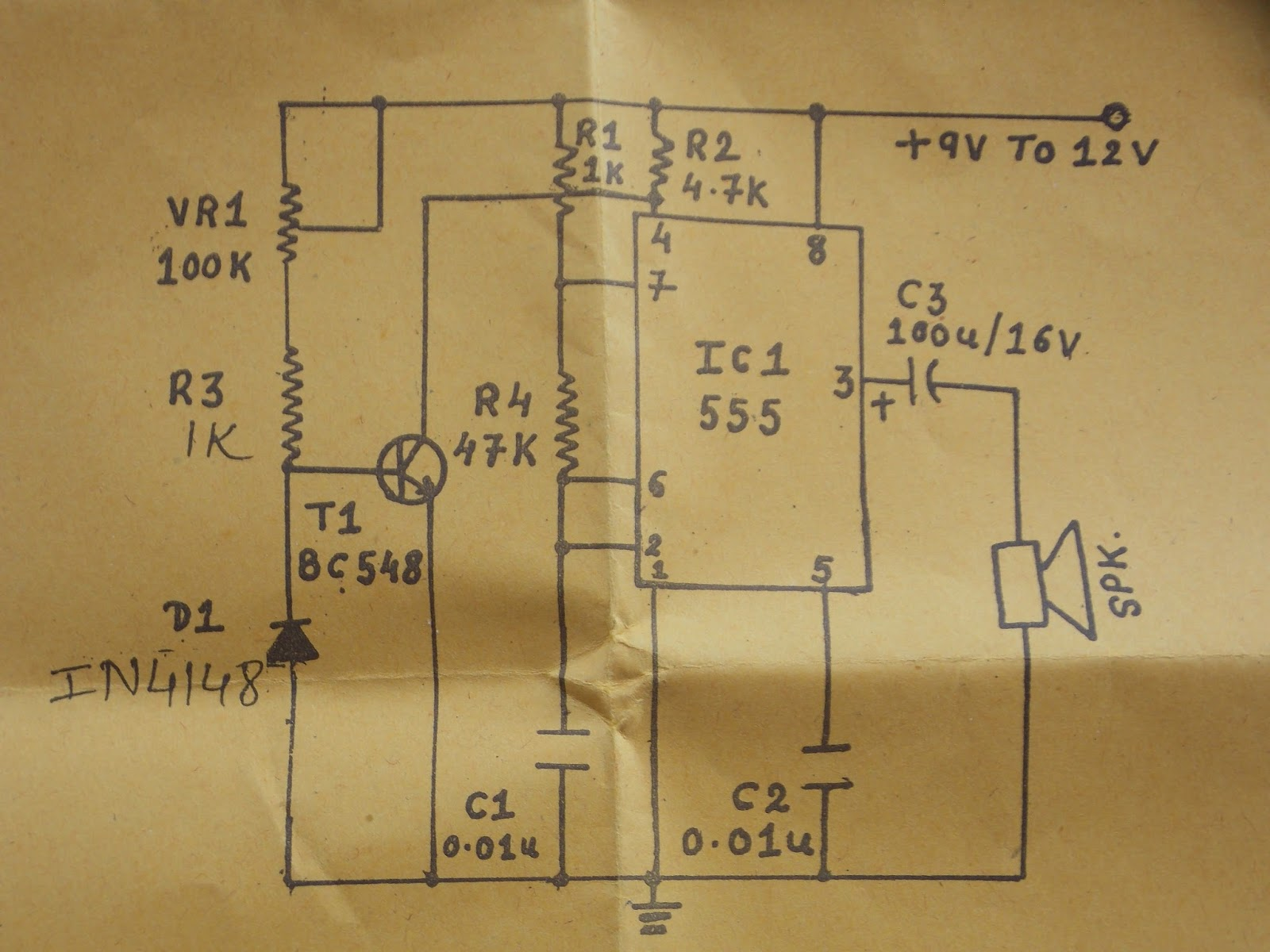 fire alarm schematic diagram 3 wire guitar pickup wiring block of circuit using lm341 library germanium diode