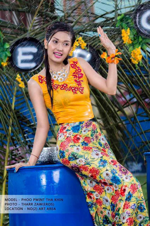 Phoo Pwint Thakhin Yellow Thingyan Fashion Photoshoot