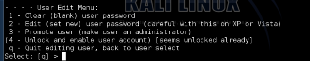 windows password with kali