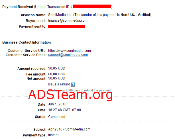 SomiMedia Payment Proof