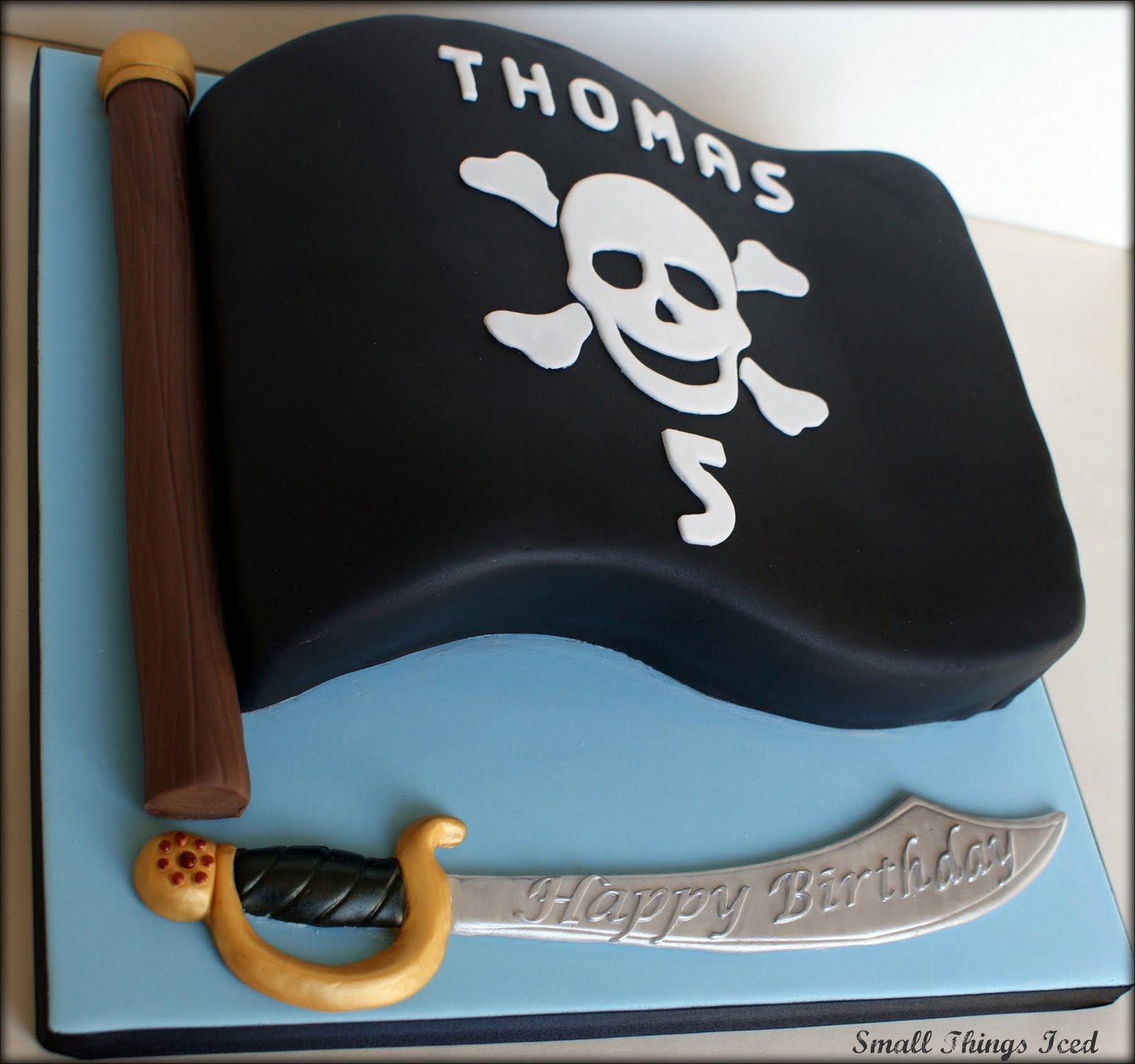 Small Things Iced Jolly Roger Cake