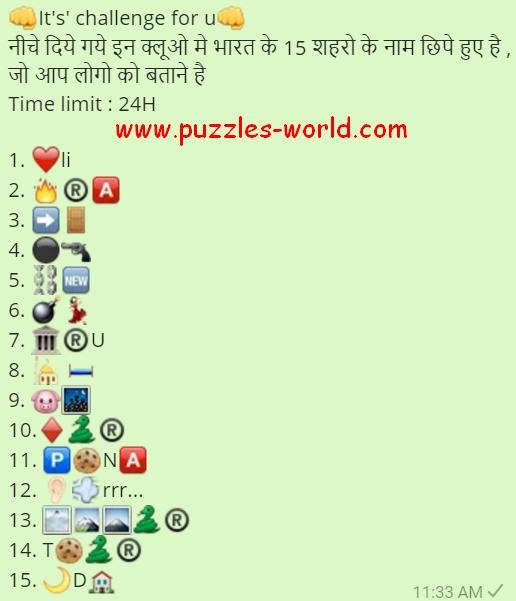 भारत के 15 शहरो के नाम