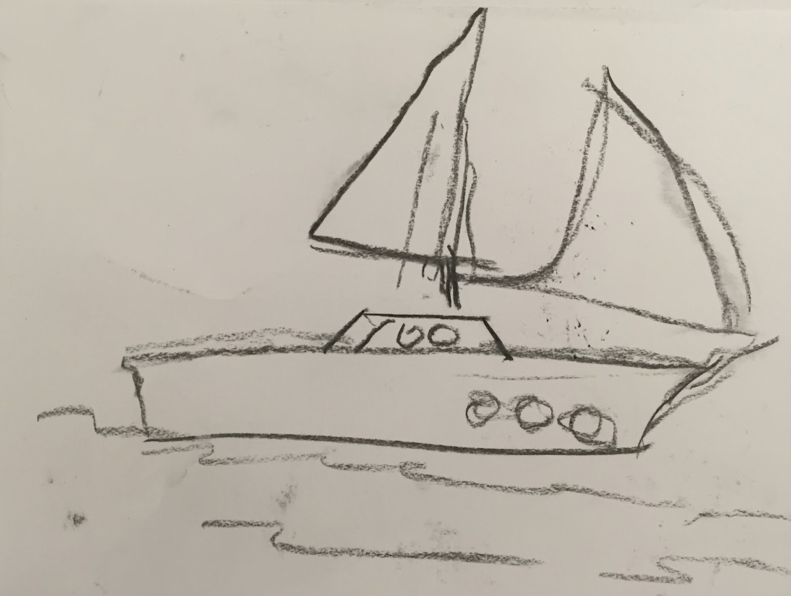 Doodlebug Dabblings Drawing Boats And Learning Composition Skills