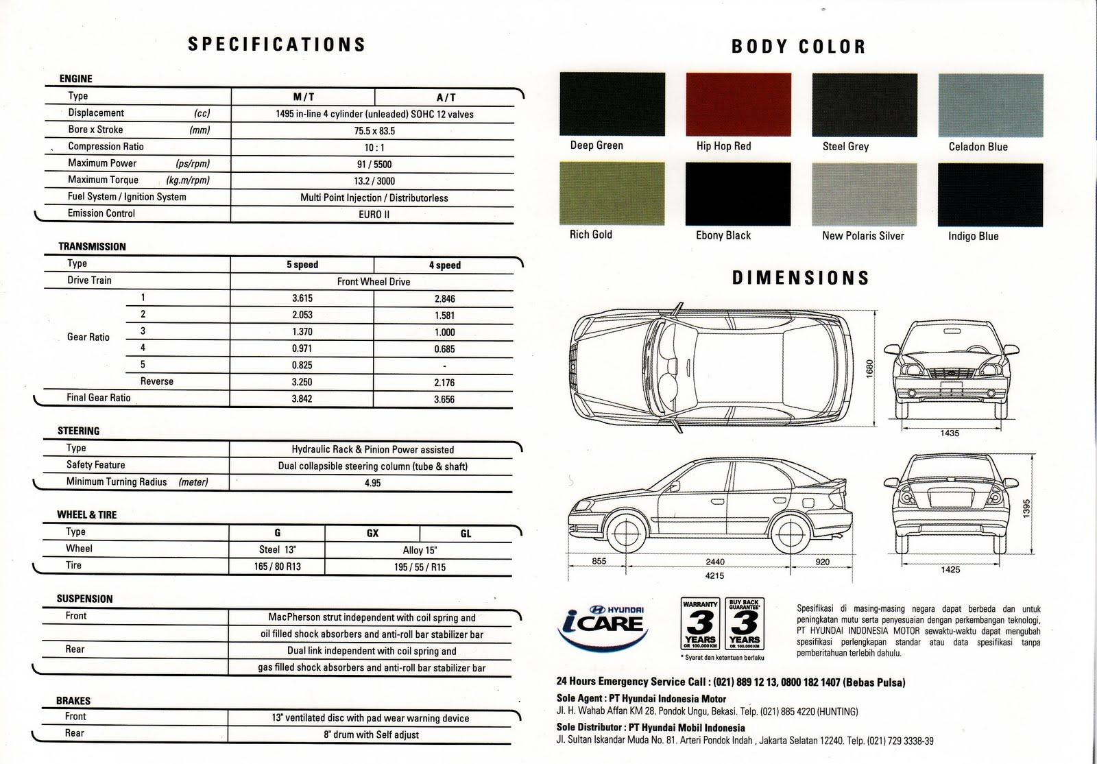 Hyundai Arteri Pondok Indah: Hyundai AVEGA GX