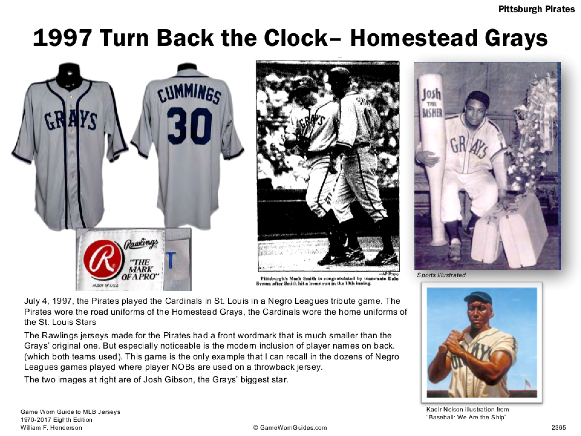 a3bf2388a The Pirates have thrown back to the Homestead Grays at least eleven times  ...