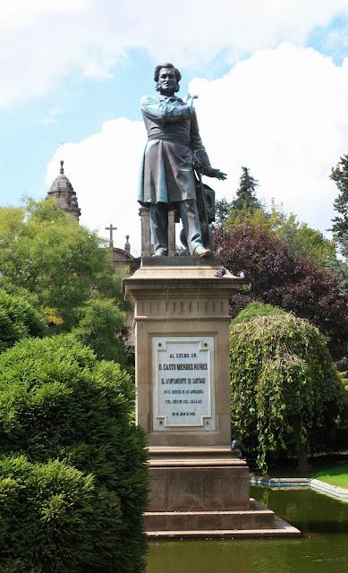 Resultado de imagen de el monumento a Casto Méndez Núñez DE LA ALAMEDA DE SANTIAGO DE COMPOSTELA