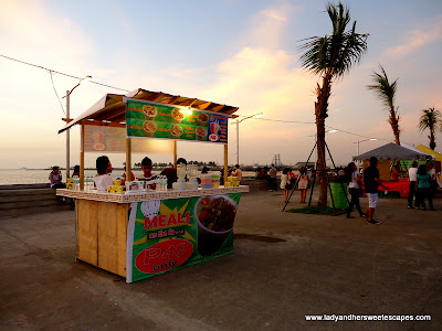 food stalls at Bacolod Baywalk