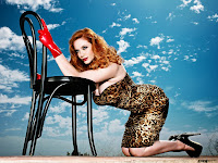 Celebrity legs of Christina Hendricks