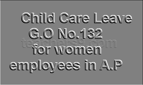 Child Care Leave rules G.O No.132 for women employees in A.P