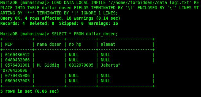 Belajar Mysql Part 16 Menambah Data Dari File Load Data Infile Blc Telkom