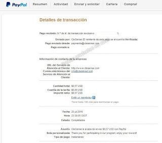 Cobro Paypal