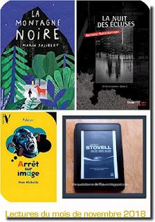 Vie quotidienne de FLaure : Livres présentés pendant le mois de novembre 2018