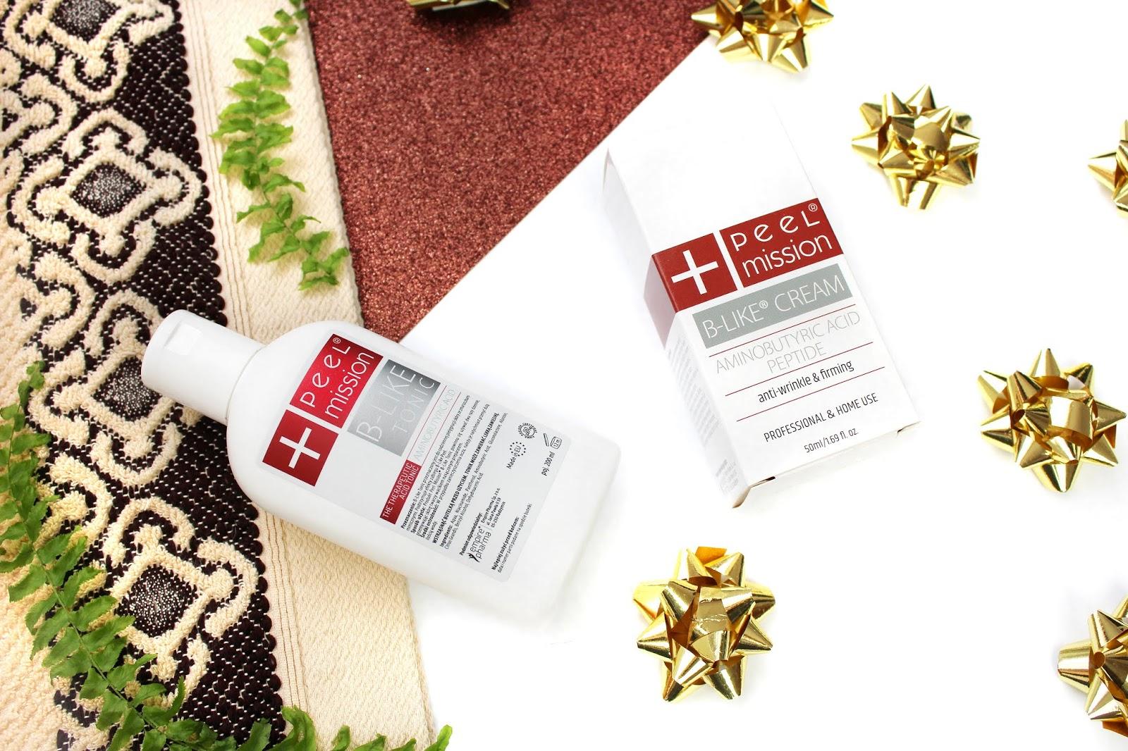 Peel Mission, B-Like Peel - Krem oraz tonik do walki z oznakami starzenia się skóry i redukcji zmarszczek mimicznych