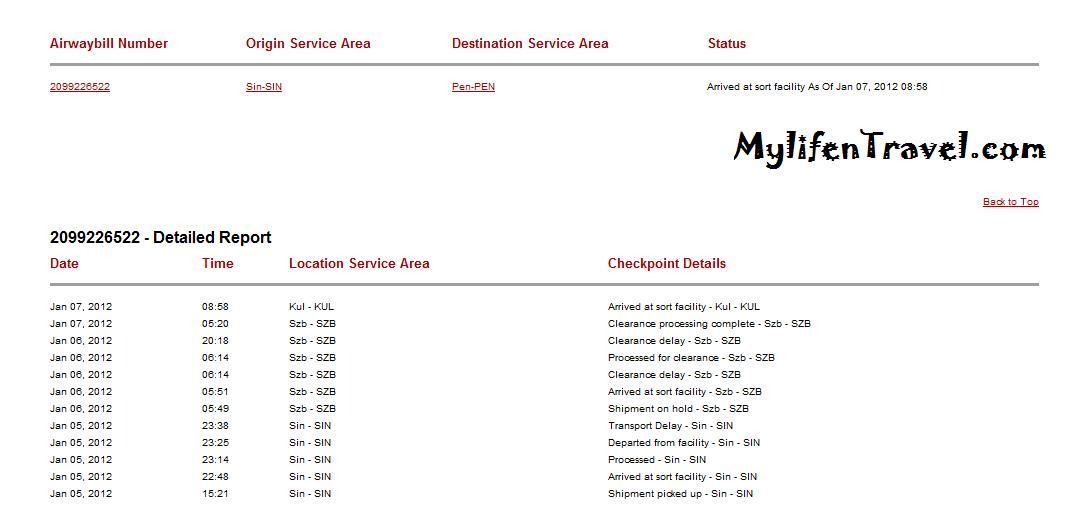Iphone 4S Track your package at DHL | 旅游博客王宏量