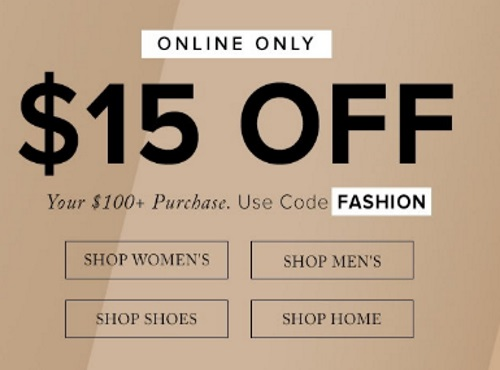 Hudson's Bay $15 Off Fashion Promo Code