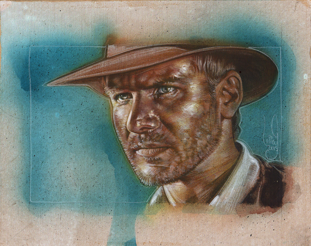 Indiana Jones, Harrison Ford Artwork is Copyright © 2015 Jeff Lafferty
