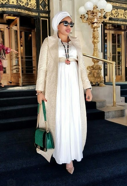 Olori Wuraola Steps Out In Stunning Style Rocking A Chanel Bag In New-York…Photo