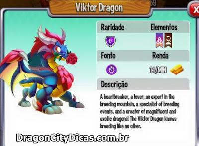 Dragão Viktor - Informações