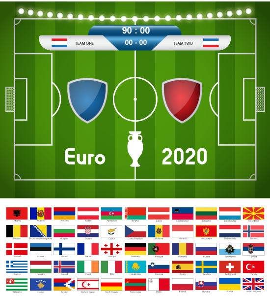 Panel de Resultado y Marcadores Eurocopa de fútbol 2020