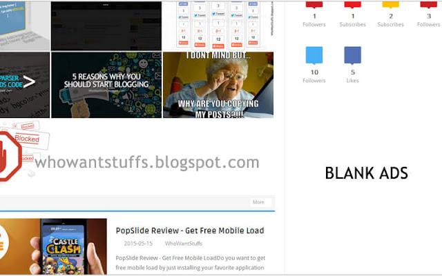 Adsense Blank Ads - White Space