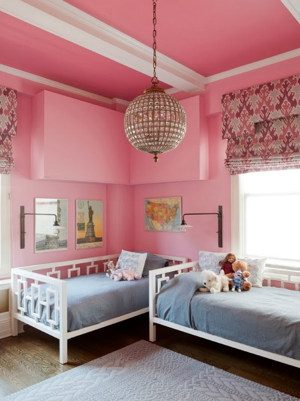 Habitaci n rosa para dos ni as dormitorios colores y estilos - Habitaciones pequenas para ninas ...