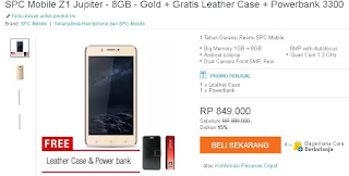 Harga SPC Mobile Z1 Jupiter Bonus Leather Case dan Powerbank 3300