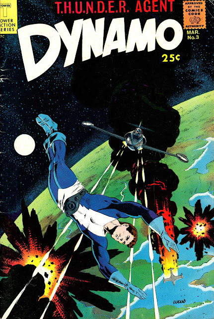 Dynamo v1 #3 tower 1960s silver age comic book cover art by Wally Wood