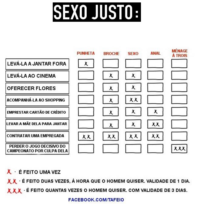 Sexo justo...