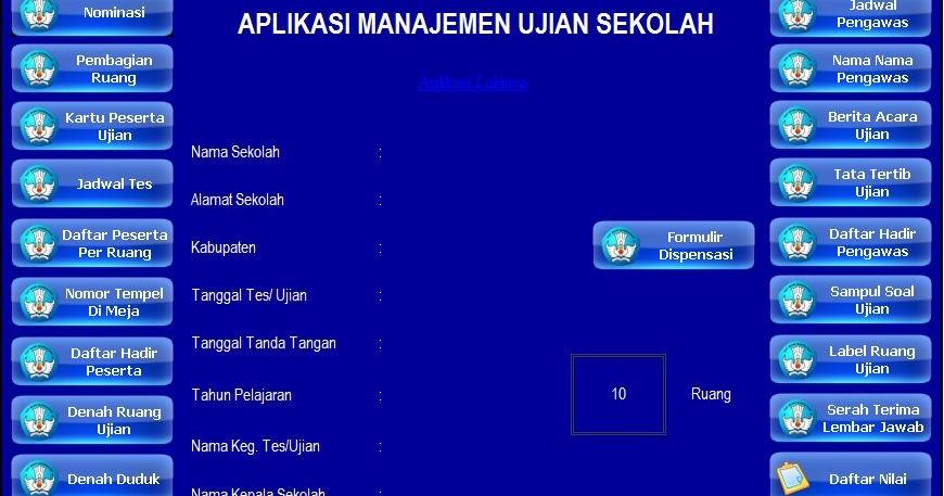Download Aplikasi Administrasi Pengelolaan Ujian Sekolah