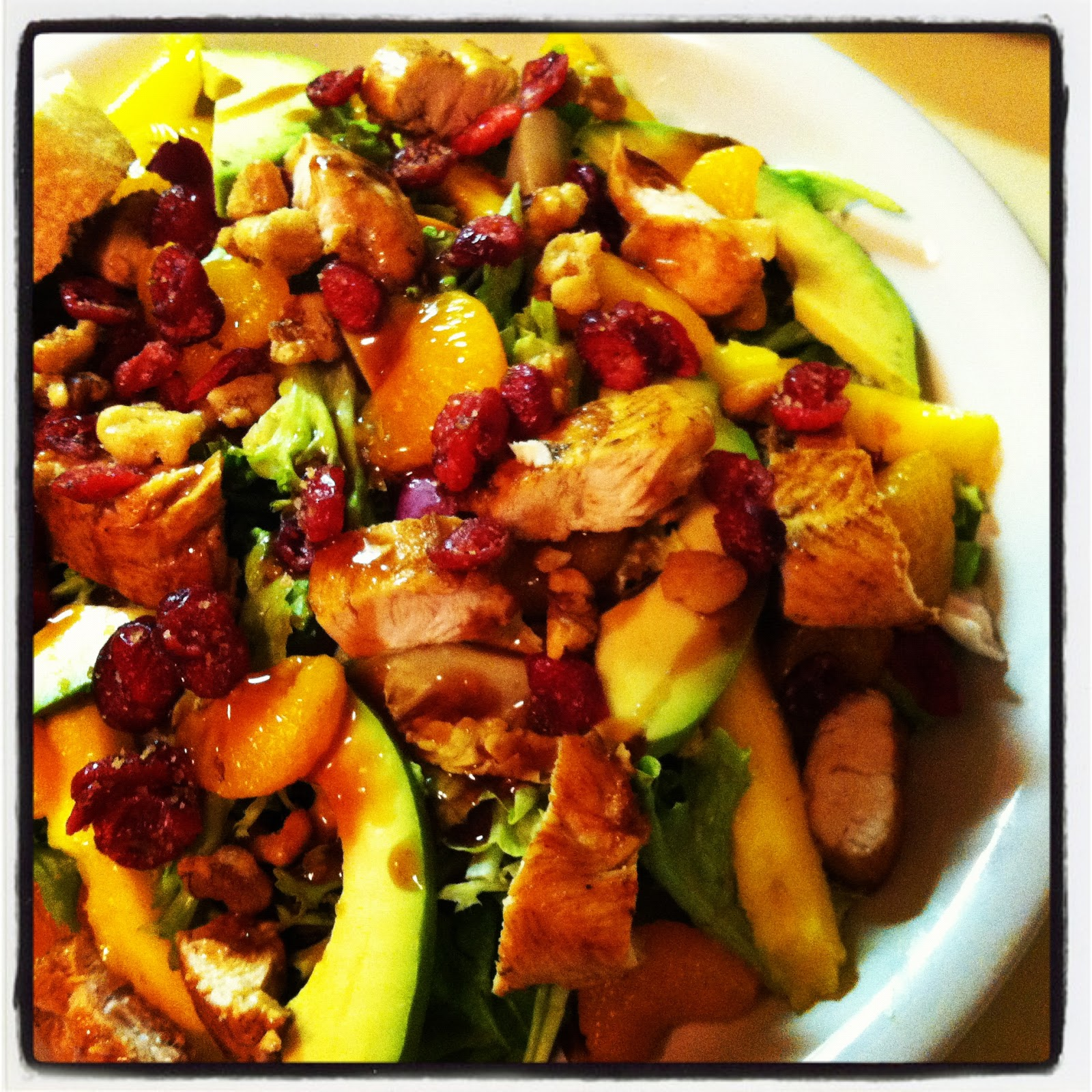 For The Love Of Food : Fruit, Nuts & Greens Dinner Salad
