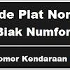 Kode Plat Nomor Kendaraan Biak Numfor