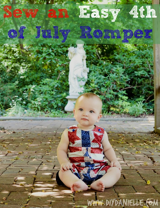 How to Sew an Easy 4th of July Romper