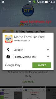 maths formulas free accept