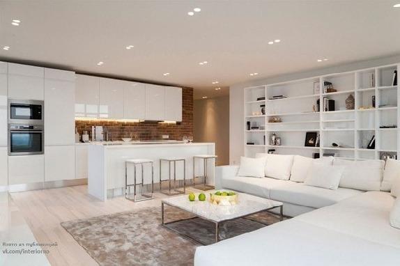 Светлый интерьер квартиры студии