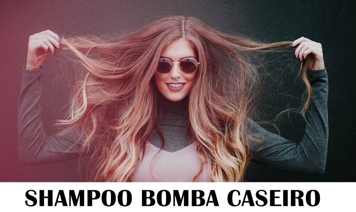 Shampoo bomba caseiro