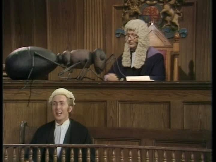 d3b2a0a0 verdict through pantomime. Judge Chapman calls the next defendant with  charades and a giant prop ant. On to the next bit-- the defendant (Jones)  is himself ...
