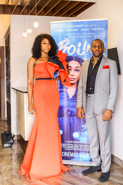 Photos from the private screening of Bound produced by Lilian Afegbai