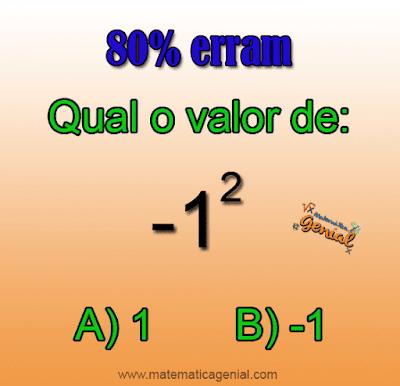Desafio - Quanto é -1²?