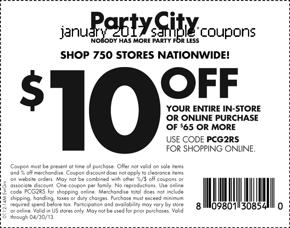 Printable Coupons 2018: Party City Coupons