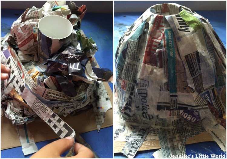Jennifer 39 s little world blog parenting craft and travel for Paper mache structure