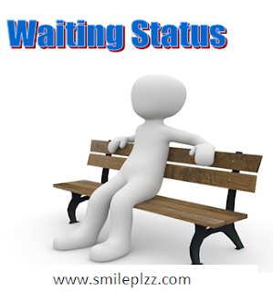 waiting status for whatsapp