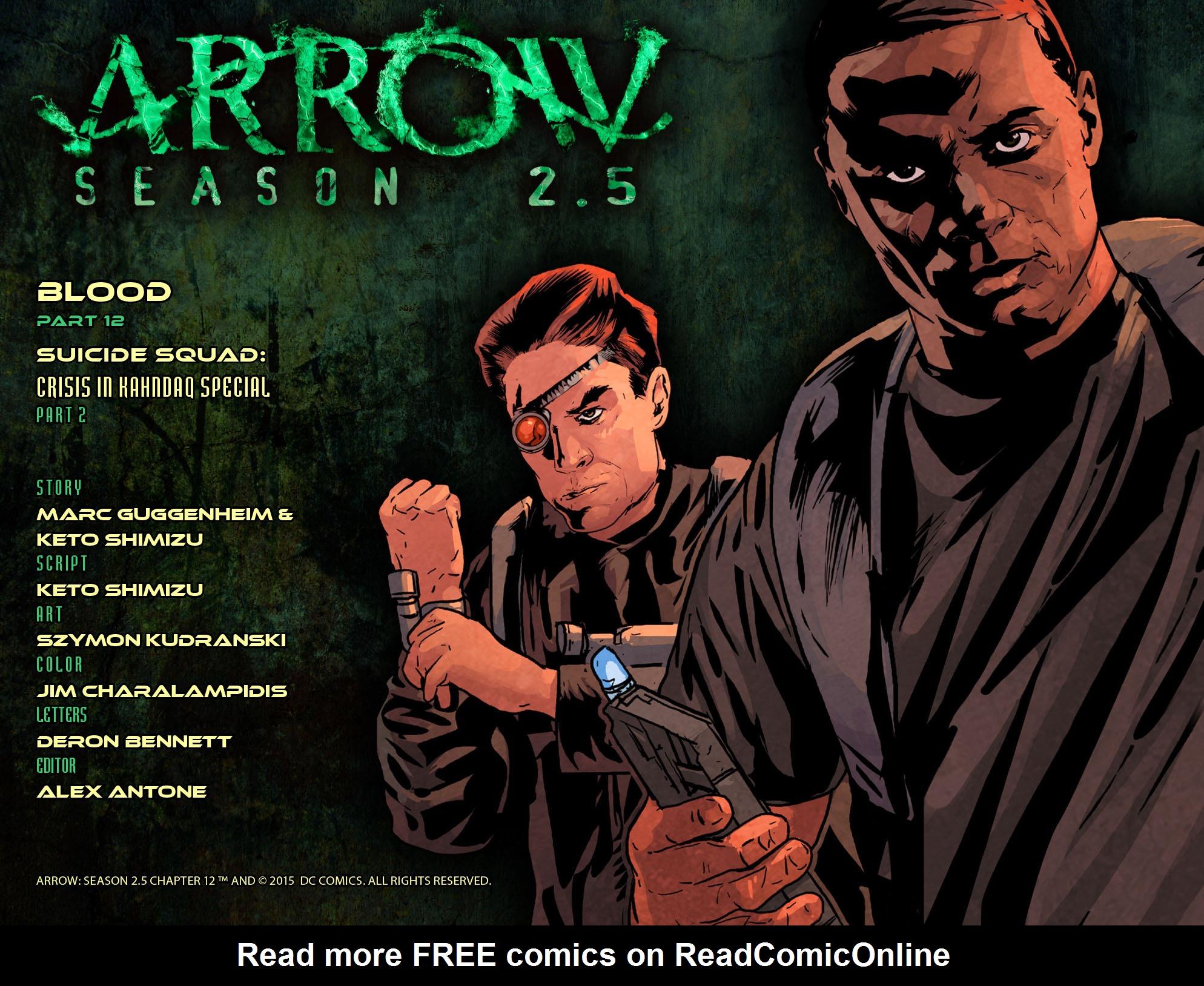 Read online Arrow: Season 2.5 [I] comic -  Issue #12 - 2