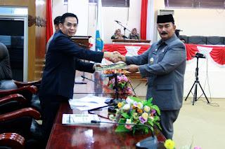 Wakil Bupati Tanjab Barat Sampaikan 7 Rancangan Peraturan Daerah