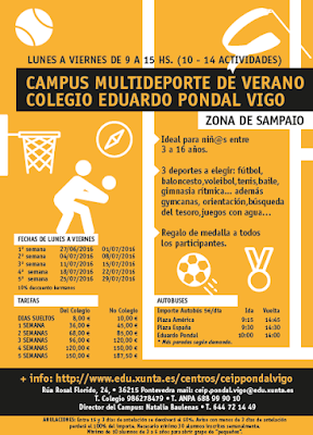 Campamentos multideporte en Vigo - COLEGIO EDUARDO PONDAL
