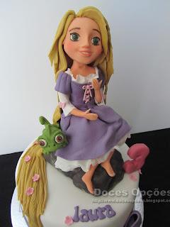 Rapunzel fondant disney cake