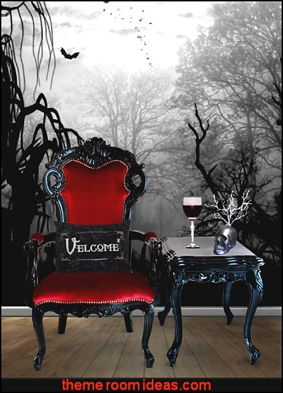 Gothic bedroom ideas - Gothic bedroom decor - Gothic bedding - Gothic wall decorations - Gothic furniture - Gothic Wall Murals - Gothic chic - Victorian Gothic boudoir themed decor - gothic living room - vampire bedroom decorating ideas - Graveyard bedroom ideas - Gothic style bedroom decorating ideas