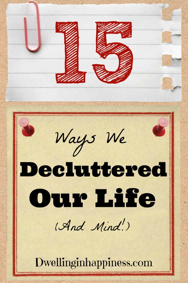 Ways We Decluttered Our Life graphic.