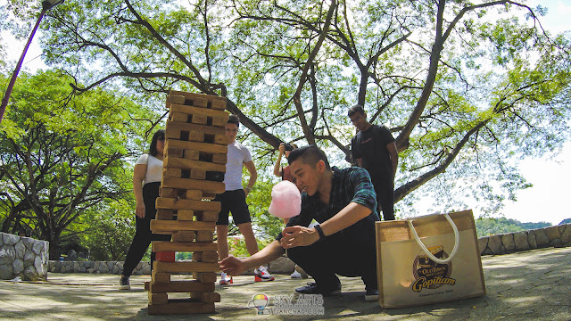 When you try to find the right Jenga and having cotton candy at the same time
