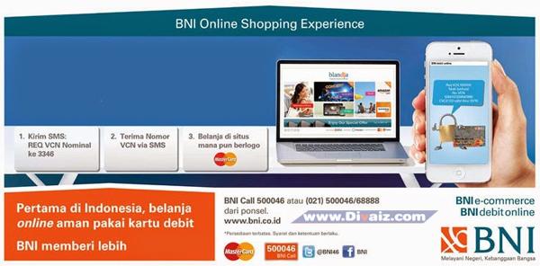 Cara Mendapatkan, Aktivasi, Daftar/Request VCN BNI - BNI Debit Online