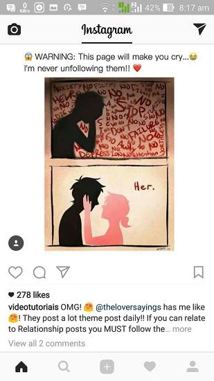 cara menyimpan foto dari Instagram